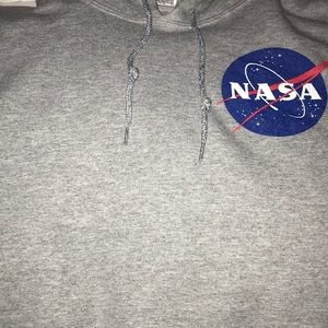 Light Grey NASA Croptop hoodie